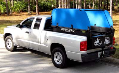 Compact Dump-Pro dump insert with  Hi-Sides in a Compact truck