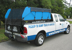 Full-size Dump-Pro with Hi-Sides and Tarp & Bungee option